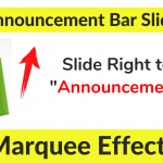 How to Add Marquee in Shopify Announcement Bar ?
