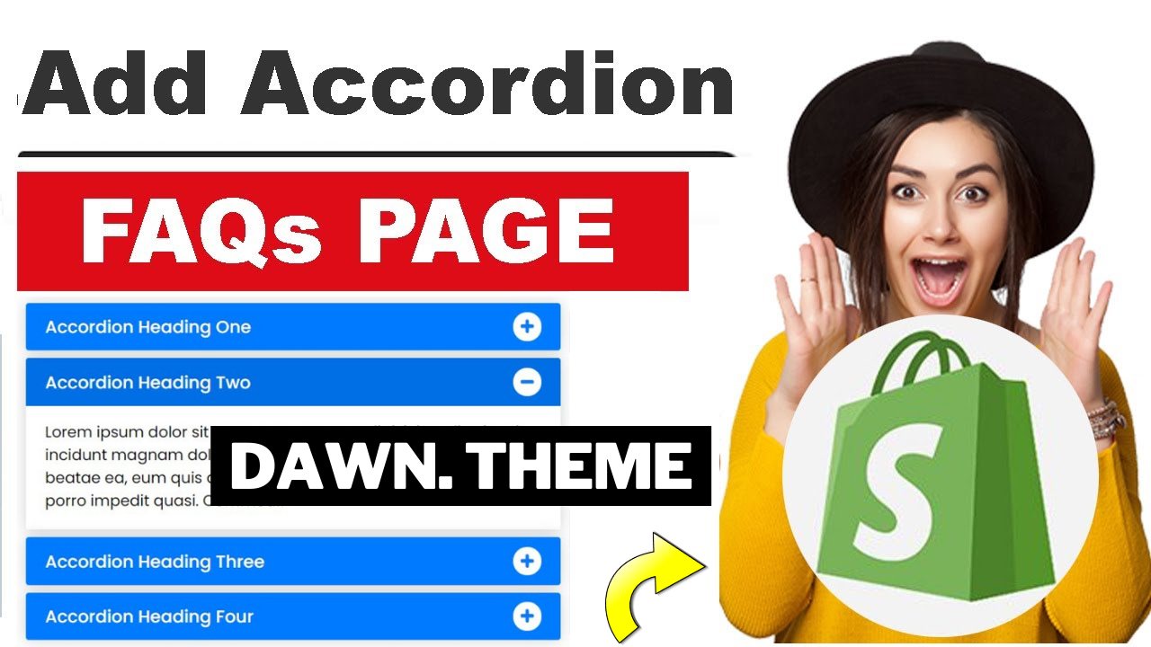 How To Create FAQs Page for Shopify Theme Dawn | Creating Accordions in Shopify Theme Development